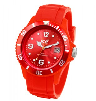 montre ice watch sili rouge
