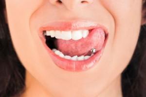 piercing langue