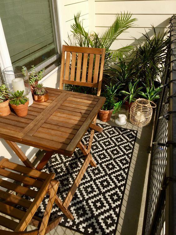 tapis d'extérieur pour balcon cosy